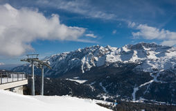 Ski resort Madonna di Campiglio Stock Photo