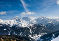 Ski resort Madonna di Campiglio. Italy Royalty Free Stock Images
