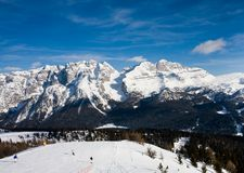 Ski resort Madonna di Campiglio Royalty Free Stock Image