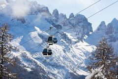 Ski resort Madonna di Campiglio Royalty Free Stock Photo