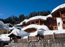 Ski resort Madonna di Campiglio. Italy. Hotels of ski resort Madonna di Campiglio. Italy Royalty Free Stock Photography
