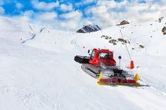 Ski resort maintenance Stock Photo