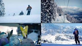 Ski Resort Montage stock video