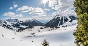 Ski Resort Motionlapse 4k. Motionlapse of a Italian ski resort in the Alps. 4k footage stock video footage