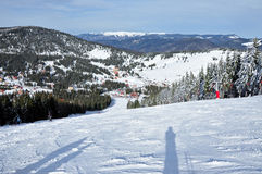 Ski resort in the mountains Stock Photography