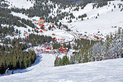 Ski resort in the mountains Royalty Free Stock Photo