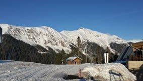 Ski resort in the mountains of the Caucasus, Krasnaya Polyana, Russia Royalty Free Stock Photo