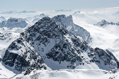 Ski resort of Neustift Stubai glacier Stock Photo