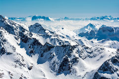 Ski resort of Neustift Stubai glacier Royalty Free Stock Photography