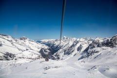 Ski resort of Neustift Stubai Stock Photography