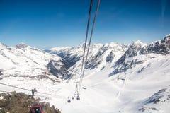Ski resort of Neustift Stubai Stock Photo