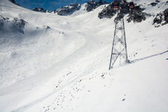 Ski resort of Neustift Stubai glacier Royalty Free Stock Photo