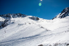 Ski resort of Neustift Stubai glacier Royalty Free Stock Image