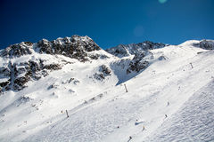 Ski resort of Neustift Stubai glacier Royalty Free Stock Photos