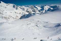 Ski resort of Neustift Stubai glacier Stock Image