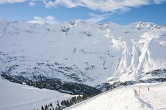 Ski resort  Obergurgl. Austria Stock Photos