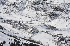 Ski resort  Obergurgl. Austria Stock Images