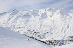 Ski resort  Obergurgl. Austria Royalty Free Stock Photo