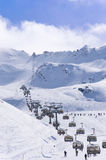 Ski resort Obergurgl-Hochgurgl in Otztal Alps, Austria Stock Photos