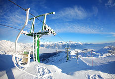 Ski Resort On The Top Of The Mountain Royalty Free Stock Photos