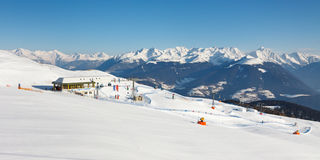 Ski Resort Panorama Stock Photo
