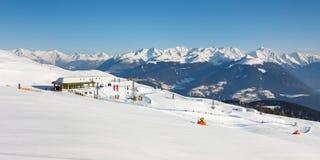 Ski Resort Panorama Stock Photo