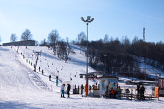 The ski resort Puzhalova Gora Stock Image