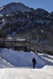 Ski resort in a Pyrenees mountain Stock Photos