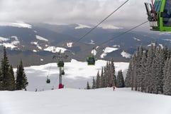 Ski resort in Romania Royalty Free Stock Photo