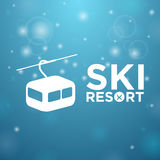 Ski resort ropeway Stock Photos