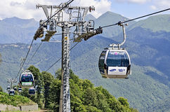 Ski resort Rosa Khutor ahead of the Olympics in 2014. Stock Images