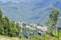 Ski resort Rosa Khutor ahead of the Olympics in 2014. Stock Photos