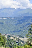 Ski resort Rosa Khutor ahead of the Olympics in 2014. Royalty Free Stock Image