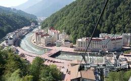 Ski Resort Rosa Khutor in Krasnaya Polyana Stock Image