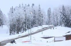 Ski resort Rosa Khutor near Krasnaya Polyana Royalty Free Stock Photography