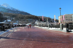 Ski resort of Rosa Khutor. Royalty Free Stock Photo