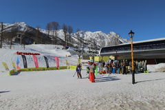 Ski resort Rosa Khutor Stock Photos