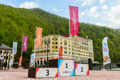 Ski resort Rosa Khutor Stock Image