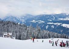 Ski resort  Schladming . Austria. The ski resort  Schladming . Austria Royalty Free Stock Images