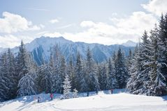 Ski resort  Schladming . Austria. The ski resort  Schladming . Austria Royalty Free Stock Image
