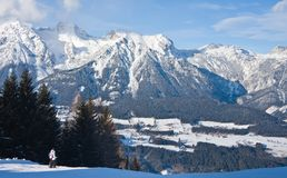 Ski resort  Schladming . Austria. The ski resort  Schladming . Austria Royalty Free Stock Photos