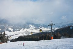 Ski resort  Schladming . Austria. The ski resort  Schladming . Austria Royalty Free Stock Images