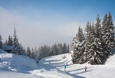 Ski resort  Schladming . Austria. The ski resort  Schladming . Austria Royalty Free Stock Photo