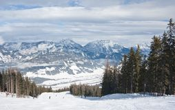 Ski resort Schladming . Austria Royalty Free Stock Images