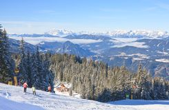 Ski resort Schladming . Austria Royalty Free Stock Photography