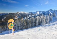 Ski resort Schladming . Austria Stock Images