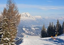 Ski resort Schladming . Austria. View of Ski resort Schladming . Austria Royalty Free Stock Images
