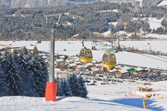 Ski resort Schladming . Austria. View of Ski resort Schladming . Austria Stock Image