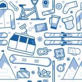 Ski Resort Seamless Pattern Royalty Free Stock Image