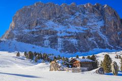 Ski resort of Selva di Val Gardena Stock Images